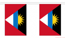 ANTIGUA & BARBUDA BUNTING - 3 METRES 10 FLAGS